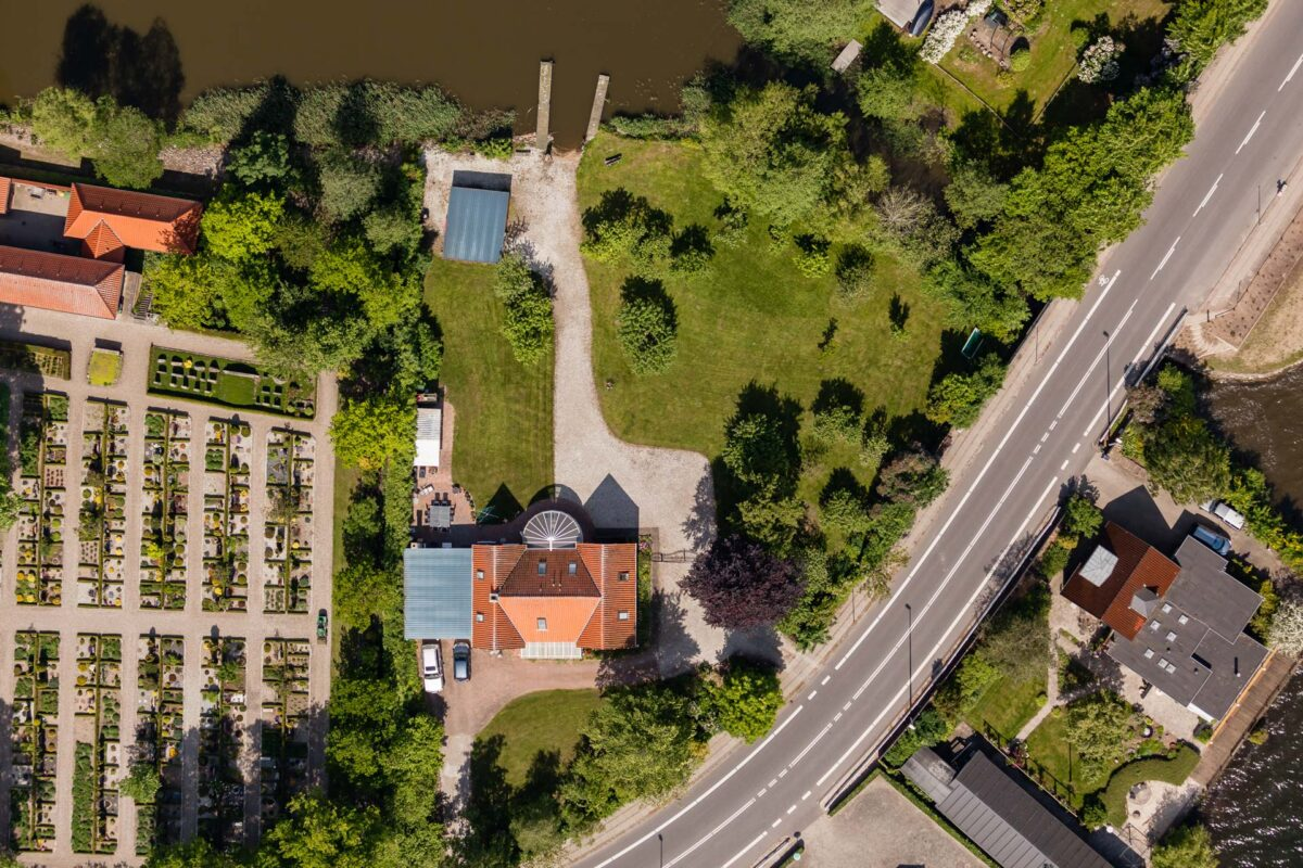 Lodfoto af en ejendom til brug for ejendomsmægler