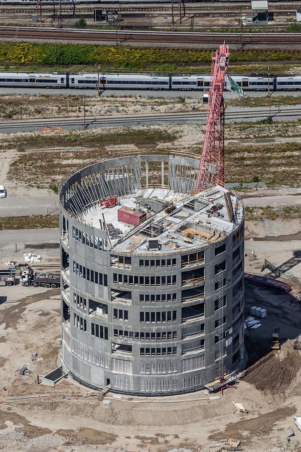 Luftfoto af byggeplads